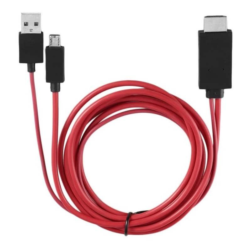 Cable hdmi a micro usb y usb